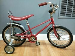 Vintage Cardinal Red Schwinn Sting Ray Pixie 2 Bicycle 16 In Tire 1977 Euc