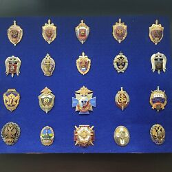 Rare Lot Of 20 Military Russian Badges