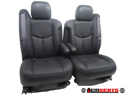 Gm Chevy Truck Suv Oem Front Seats With New Leather 2003 2004 2005 2006 And039