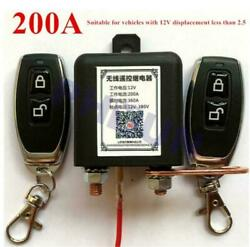 12v Wireless Remote Battery Disconnect Relay Master Kill Switch For Car Hot Rod