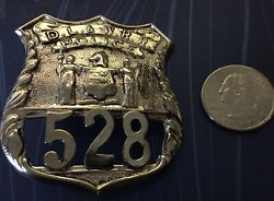 Vintage Obsolete D. L. And W. R.r. Railroad Badge Shield -- New Jersey Nj Seal