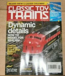 Classic Toy Trains Magazine Sep 2021 Dynamic Details Model For Realism And More