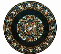 30and039and039 Marble Inlay Table Top Pietra Dura Home Garden Antique Coffee Decor B104