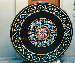 30and039and039 Marble Inlay Table Top Pietra Dura Home Garden Antique Coffee Decor B114