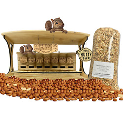 The Nutty Bar Combo | Squirrel Nut Feeder With 10 Lbs Of Wakefield Peanuts