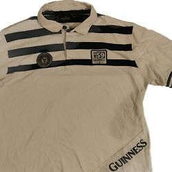 Vintage Guinness Black White Rugby Polo Top Size Xxl 2xl 1759 Dublin Ireland