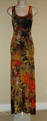 Stunning, Nwt, Sold Out, Fuzzi Floral Maxi Mesh Dress By Jean Paul Gaultier