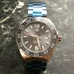 Tag Heuer Formula 1 Gray Menand039s Watch - Waz2011.ba0842 Stainless Steel Used