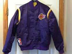 Vintage Los Angeles Lakers Nba Starter Satin Jacket Made In Usa Adult Size L