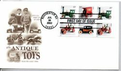 Antique Toys Stamps First Day Of Issue, Taxicab, Fire Engine, Train, Mail Wagon