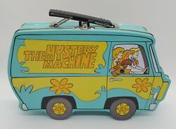 Vintage Scooby Doo Lunch Box The Mystery Machine Blue Tin Collectable 9 X 5