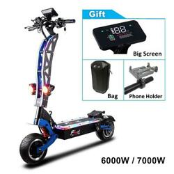Electric Scooter For Adults With Seat 6000/7000w Strong Power 11 Dual Engine