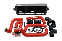 Grimmspeed Front Mount Intercooler Kits Red Pipe For Subaru 08-14 Sti 090253