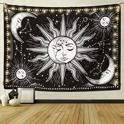 New amp; Sun and Moon Tapestry Arfbear Wall Tapestry Wall Hanging Beach Blanket