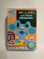 New Blue's Clues - Abc's, 123's And More Collection Factory Sealed 3 Dvd Set