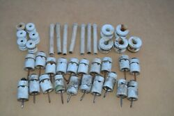 38 Vintage Ceramic Knob And Tube Wire Insulators And Electric Fence - Porcelain