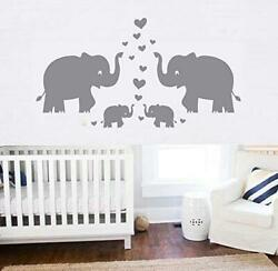 Elephant Wall Decal Family Wall Decal With Hearts and Butterfly Wall Decals Baby