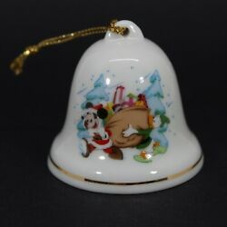 Disney Christmas Bell Ornament Mickey Mouse Donald Duck Bag Grolier Collectibles