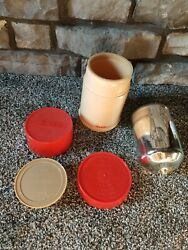 Vintage Aladdin Pint Wide Mouth Thermos Mug Red / Cream Body No. 240 Cup