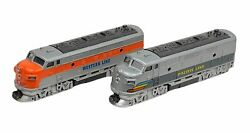 Toysmith Western Line/ Pacific Line Classic Diesel Model Trains Toy Collectibles