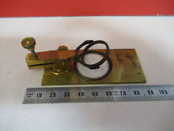 Antique Brass Nachet Stage Assembly France Microscope Part As Pictured Andf6-b-26