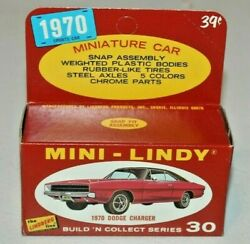 Very Rare 1970 Vintage Lindberg Mini-lindy 30 Dodge Charger1/64mint In Box