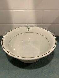 Antique Us Forest Service Dept Agriculture Serving Bowl Sterling China Usfs 9andrdquo