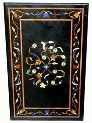 36''x17'' Marble Dining Coffee Corner Center Inlay Table Top Antique Mosaic O123