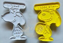 Peanuts Snoopy Joe Cool Whats Cookin Lot 2 Cookie Cutters Vintage 1950s