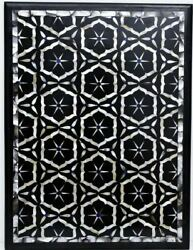 36''x17'' Marble Dining Coffee Corner Center Inlay Table Top Antique Mosaic O118