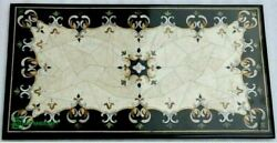 4and039x2and039 Marble Table Top Antique Mosaic Dining Coffee Corner Center Inlay O145