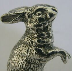 Superb Heavy 52g English Solid Sterling Silver Bunny Rabbit Hare Animal 1975