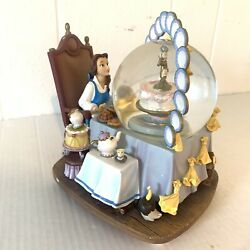 Disney Beauty And The Beast Belle At Table Be Our Guess Musical Snowglobe Flaw