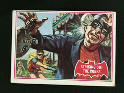 1966 Batman 27a Series Red With Robin And Cobra Topps Trading Card