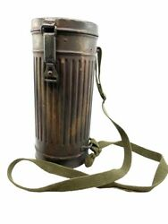 Ww2 German Camouflage Cam Gas Mask Can Tin Empty