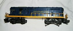 Lionel 2365 Chesapeake And Ohio Cando Locomotive, Blue/yellow Tested And Working