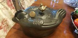 Staub Chicken Cocette And Jaques Pepin Knob-5 Qt Dutch Oven Casserole-rooster Hen