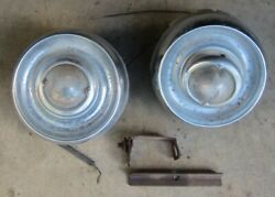 1954 Cadillac Front Park Parking / Signal Light Pair 2 Used Orig 54