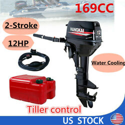 12hp 2-stroke Outboard Motor Fishing Boat Engine Water Cooling System Cdi Us Us