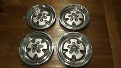 Nos 1970 1971 Mustang Boss 15 Inch Sport Wheel Covers Hubcaps Rare