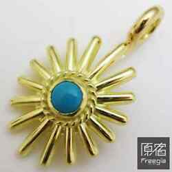 Goroand039s All-gold Rope With Turquoise Sea Urchin Top With Metal Back [t210610001]