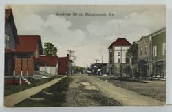 Shinglehouse Pa Academy Street, 1909 To Fitch Family Franklinville Postcard N10