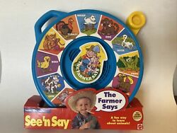 Vintage In Package 1996 Mattel The Farmer Says See And039n Say Tested And Working 89