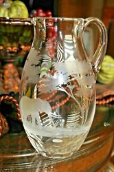 Rowland Ward Queen Lace Crystal Vintage 72 Oz. Elephant Pitcher