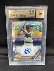 2019 Marco Luciano Bowman Chrome Refractor Auto Rc - Bgs 9.5/10 - X/499