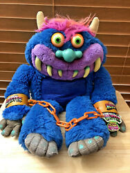 My Pet Monster Plush 2001 Complete With Cuffs Electronics Don't Work Toymax