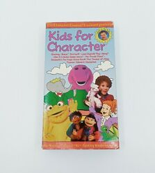 VTG 1990s Kids for Character VHS with Booklet RARE Barney Lamb Chop Gullah $24.99