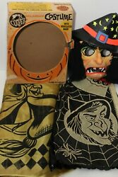 Vintage 1960s Ben Cooper Masquerade Costume Halloween Witch Hairy Scary In Usa