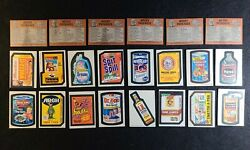 Lot Of 16 1973 Topps Wacky Packages 3rd Series Cards Stickers + 6 Checklists