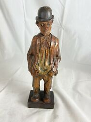 German Whistler Figure Black Forest By Karl Griesbaum, 1930s Case Only Nice
